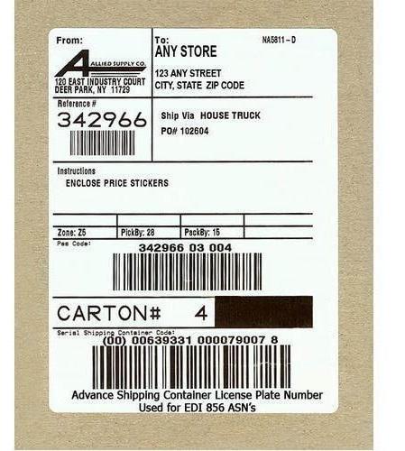 Thông tin sản phẩm trong tem dán thùng carton